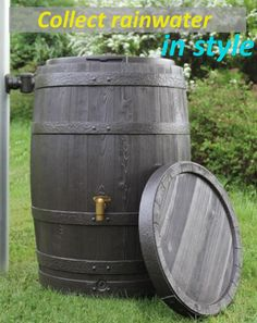 While wine is often called the nectar of the gods, rainwater is one of mother nature's finest gifts. Pure rainwater is what your indoor & outdoor plants are thirsty for and this unit automatically collects 67 or 112 gallons of it.