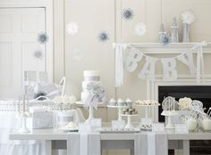 Top 10 Themes and Ideas for a Winter Baby Shower: White Winter Baby Shower Theme | RegistryFinder.com