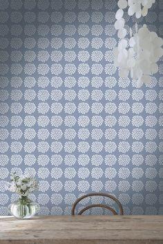 Gorgeous Puketti wallpaper design by the fabulous Marimekko.