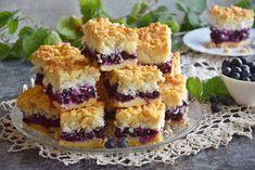 Kokosek z borówkami Polish Recipes, Polish Food, Spanakopita, Cookie Bars, Sugar Free, Cookie Recipes, Sushi, Cheesecake, Muffin