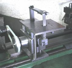 Homemade die filer fabricated from steel and driven by a surplus sewing machine motor. Description from homemadetools.net. I searched for this on bing.com/images