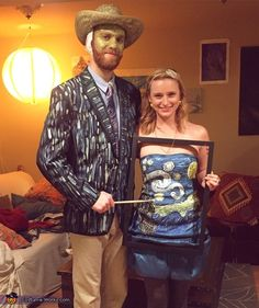 Van Gogh & Starry Night Creative Couple Halloween Costume Idea