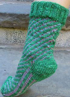 Swirly: A Family of Socks by Deborah Tomasello in Red Barn Yarn Sock