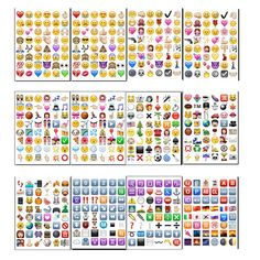 10 sheets/lot IOS Classic /face/QQ New Emoji stickers (48 Die Cut ) sticker for notebook fun message Vinyl funny creative