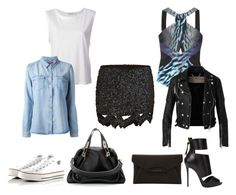 day or night by amandalen on Polyvore featuring polyvore, fashion, style, 7 For All Mankind, Alexander Wang, Dion Lee, Burberry, Converse, Giuseppe Zanotti, Chloé and Givenchy