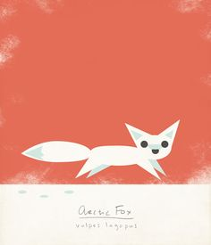 Puppets elem. lesson Arctic Fox Illustration Limited Edition Giclee by ShopAmySullivan, $25.00