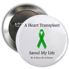 Heart Transplant Survivor Button Health 2.25 Button by CafePress
