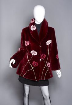 "Zuki Sheared Beaver Fur ""Poppies"" Coat"