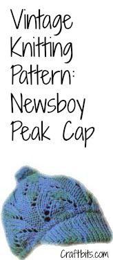 Newsboy Peak Cap