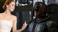 Jennifer Lawrence Flips Off Judge Dredd