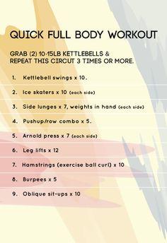 Quick Full Body Workout #workout #kettlebells