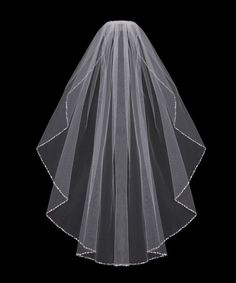 Cathedral length Bridal Veil with Bugle Bead and Rhinestone Edge from Cassandra Lynne