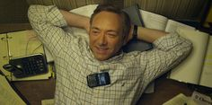 Panasonic telephone and Blackberry mobile phone used by Kevin Spacey in HOUSE OF CARDS: CHAPTER 3 (2013) @panasoniccorp #blackberry