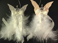 annes papercreations: How to make a feather angel with Tim Holtz layered angel wings die....way cute
