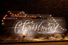 They even covered their external signs you could see from the road with pallet wood ... pretty great and replicable.  Our Christmas sign at the December 20, 2012 service during a small snow storm.