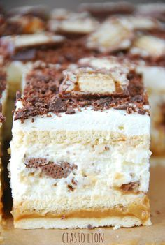 Dessert Cake Recipes, Sweet Desserts, No Bake Desserts, Just Desserts, Sweet Recipes, Polish Desserts, Polish Recipes, Pastry Cake, Homemade Cakes