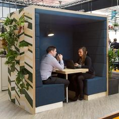 A Railway Carriage unit used to create a meeting space in an existing office. Good sound attenuation without being a completely sealed unit.