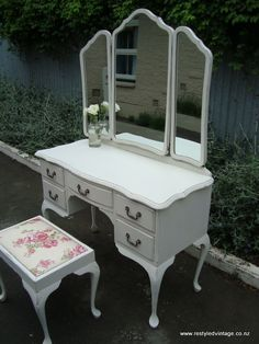 wonderful shabby chic dresser by Restyled Vintage....love, love, love!