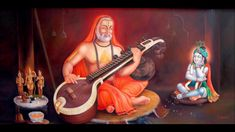 Kala Ksetram — Raghavendra Swami plays veena to his Lord Sri. Sri Krishna Photos, Radha Krishna Pictures, Indian Saints, Saints Of India, Shiva Hindu, Hindu Deities, Hinduism, Coconut Decoration, Attractive Wallpapers