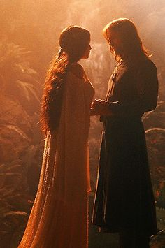 Arwen and Aragorn, so excited to dress up for the Hobbit premiere!