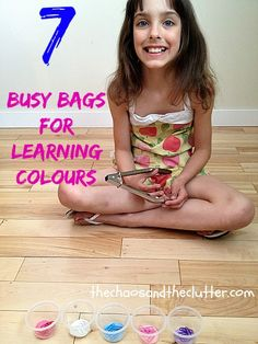 7 Busy Bags for Learning Colours