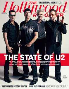 U2, The Hollywood Reporter Magazine [United States], 21 February 2014 / Bono, Larry Mullen Jr, The Edge, Adam Clayton #u2NewsActualitePinterest #u2NewsActualite #bono #PaulHewson #TheEdge #LarryMullen #LarryMullenJr #AdamClayton #u2 #music #rock #2014  www.hollywoodreporter.com/news/u2-interview-oscar-hopes-unfinished-679321?mobile_redirect=false