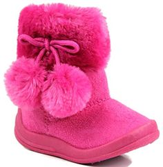 perfect Kali Footwear Little Girl's Bany Flat  Pom Pom Ankle Boot