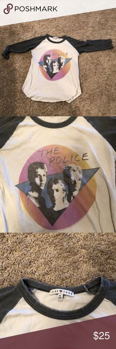 Junk Food 3/4 sleeve Police t-shirt In perfect condition! 3/4 sleeve Junk Food Police t-shirt Junk Food Clothing Tops