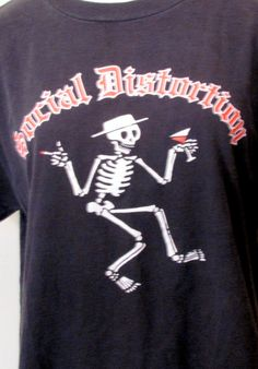 1980's SOCIAL DISTORTION Skeleton T shirt by GretelsBoutique, $50.00