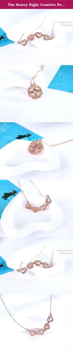The Starry Night Creative Personality Folding Heart to Heart Unity Rose Gold Plated Lucky Necklace. Not every design, can become a classic, not every one of us. Is worth you engraved in the heart, to love the most, let her get drunk in love, let you shine forever in her mind. Sell at The Starry Night,fashion female accessories.Fashion jewelry maintenance: avoid sweating a lot, to avoid wearing when bathing, avoid sleep wear, please use soft cloth to wipe, avoid scratching by the sharps...