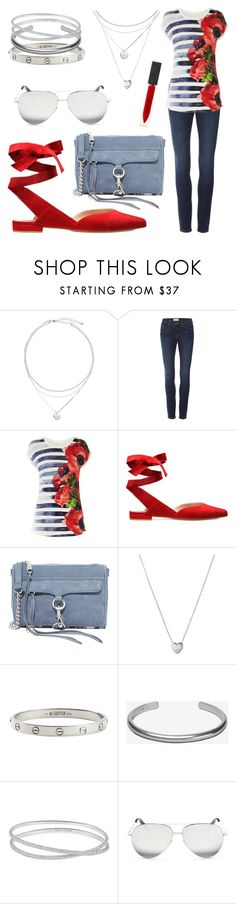 """""""Red Poppy"""" by lee1193 ❤ liked on Polyvore featuring Frame, Karen Millen, Rebecca Minkoff, Links of London, Cartier, Maison Margiela, Victoria Beckham and Burberry"""