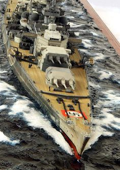 Scharnhorst 1/350 Scale Model Diorama