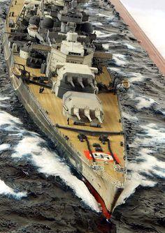 Scharnhorst 1/350 Scale Model Diorama