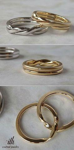 外れることのない2本のリングが重なるジュメーリ [marriage,wedding,ring,bridal,K18,Pt900,マリッジリング,結婚指輪,オーダーメイド,ギメルリング,ウエディング,ith,イズマリッジ]