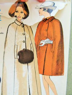 Vintage Vogue 7231 Sewing Pattern, 1960s Cape Pattern, 1960s Sewing Pattern, Princess Seams, Bust 34, Long Cape, Belted Cape, Outerwear by sewbettyanddot on Etsy