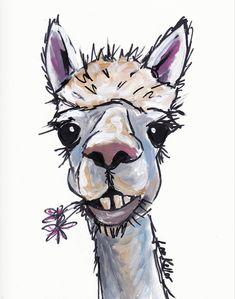 Items similar to Alpaca art, alpaca decor. Alpaca print from original Alpaca on canvas painting. Fun alpaca art, Cute alpaca print on Etsy Alpacas, Lama Animal, Farm Animals, Cute Animals, Llama Arts, Cute Alpaca, Llama Print, Nursery Art, Canvas Art Prints