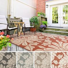 Meticulously Woven Noelle Contemporary Floral Indoor/Outdoor Area Rug (3'6 x 5'6)