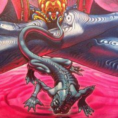 Jesterrestrial ... Oil on canvas (detail)