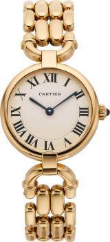 Cartier Lady's Gold Bracelet Wristwatch, circa 2000. Yes, please.