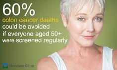 60% of colon cancer deaths could be avoided if everyone aged 50 or older were screened regularly. the Cleveland Clinic Colon Cancer Risk Assessment. Take the free online colorectal cancer risk assessment, and make the first step in knowing how you can score against colon cancer! bit.ly/wSin2S