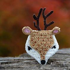 Crochet deer applique by VendulkaM