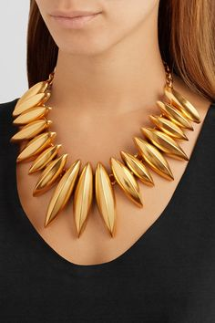 Oscar de la Renta Gold-plated necklace GOLD for the HOLIDAYS.....