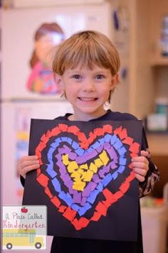 Such a sweet art project for Valentine's Day!