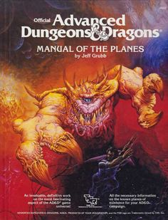 An ethereal dreadnought pursues a traveler across dimensions.  (Jeff Easley from the AD&D Manual of the Planes by Jeff Grubb, TSR, 1987.)  In later editions this creature was known as an astral dreadnought.