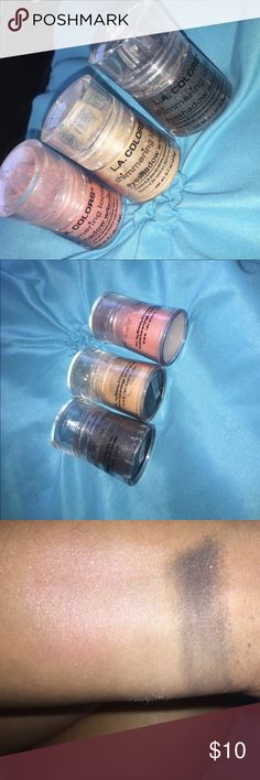L.A colors eyeshadow Slightly used but highly pigmented and u get all 3 colors Makeup Eyeshadow