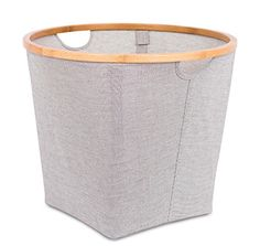 BirdRock Home Soft-Sided Round Storage Bins Organizers with Bamboo Rim Grey for sale online Dog Toy Storage, Toy Storage Solutions, Storage Bins, Storage Organization, Basket Shelves, Closet System, Dog Toys, Bamboo, Home And Garden