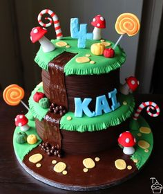 Another Willy Wonka but looks like you could adapt it very easily for a Super Mario Galaxy cake
