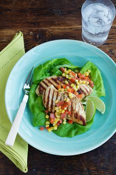Grilled ranch chicken with corn salsa puts the flavor of summer on your plate -- with a little kick! This is a fresh, light meal that'll delight the you and the kids (you may want to leave out the jalapeno on their serving) on its own, or as part of a salad. Tip: While it calls for frozen corn, you can only make the recipe better by substituting fresh corn, which is at the peak of sweetness in the summer months.