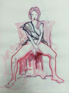 Drawing. 여자