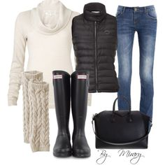 Fall outfit perfect w hunter boots!